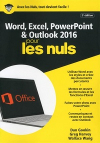 Vignette du livre Word, Excel, PowerPoint & Outlook 2016 pour les nuls - Dan Gookin, Greg Harvey, Wallace Wang