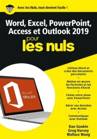 Vignette du livre Word, Excel, PowerPoint & Outlook 2019 pour les nuls - Dan Gookin, Greg Harvey, Wallace Wang
