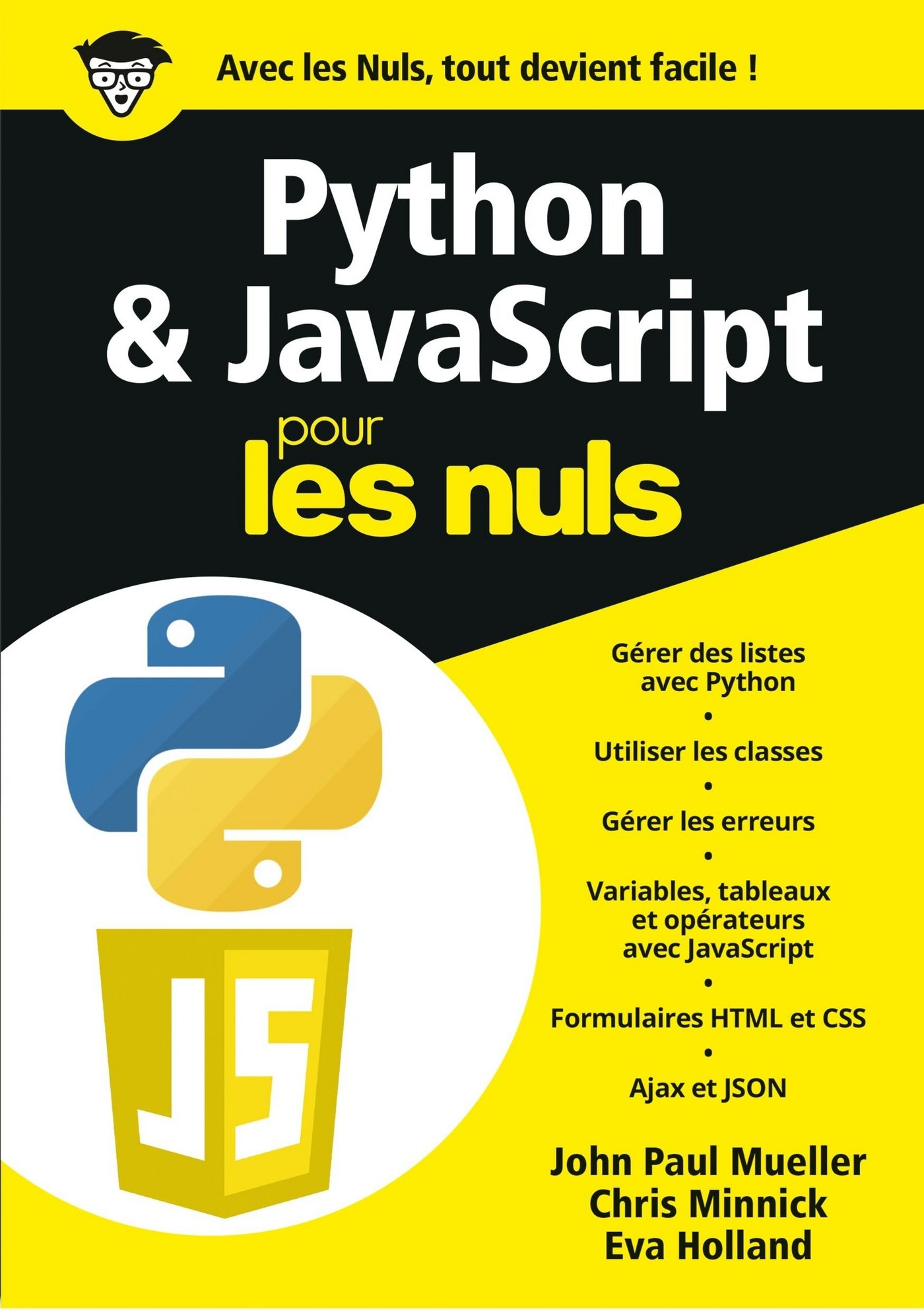 Vignette du livre Python & JavaScript pour les nuls - John Paul Mueller, Chris Minnick, Eva Holland