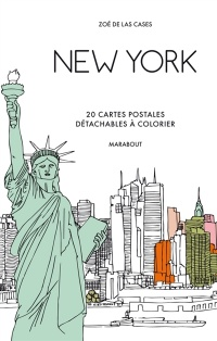 Vignette du livre New York: 20 cartes postales détachables à colorier
