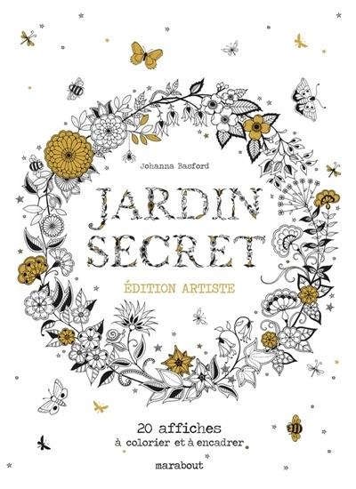 Jardin Secret 20 Affiches à Colorier Et Encadrer Par Johanna