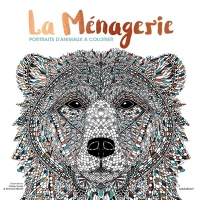La ménagerie : Portraits d'animaux à colorier, Richard Merritt