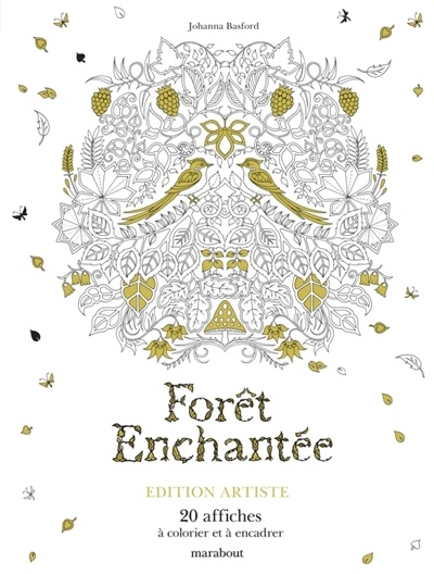 for t enchant e 20 affiches colorier et encadrer par johanna basford loisirs coloriage. Black Bedroom Furniture Sets. Home Design Ideas