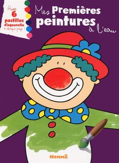 Coloriage Clown Ca.Mes Premieres Peintures A L Eau Clown Jeunesse Coloriage