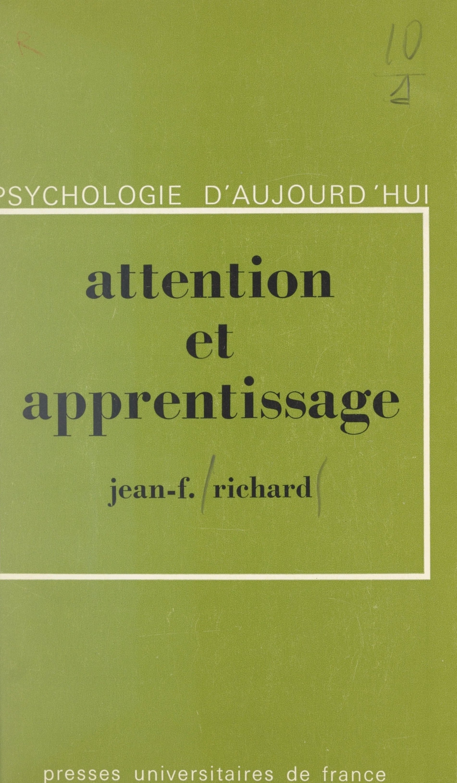 Vignette du livre Attention et apprentissage