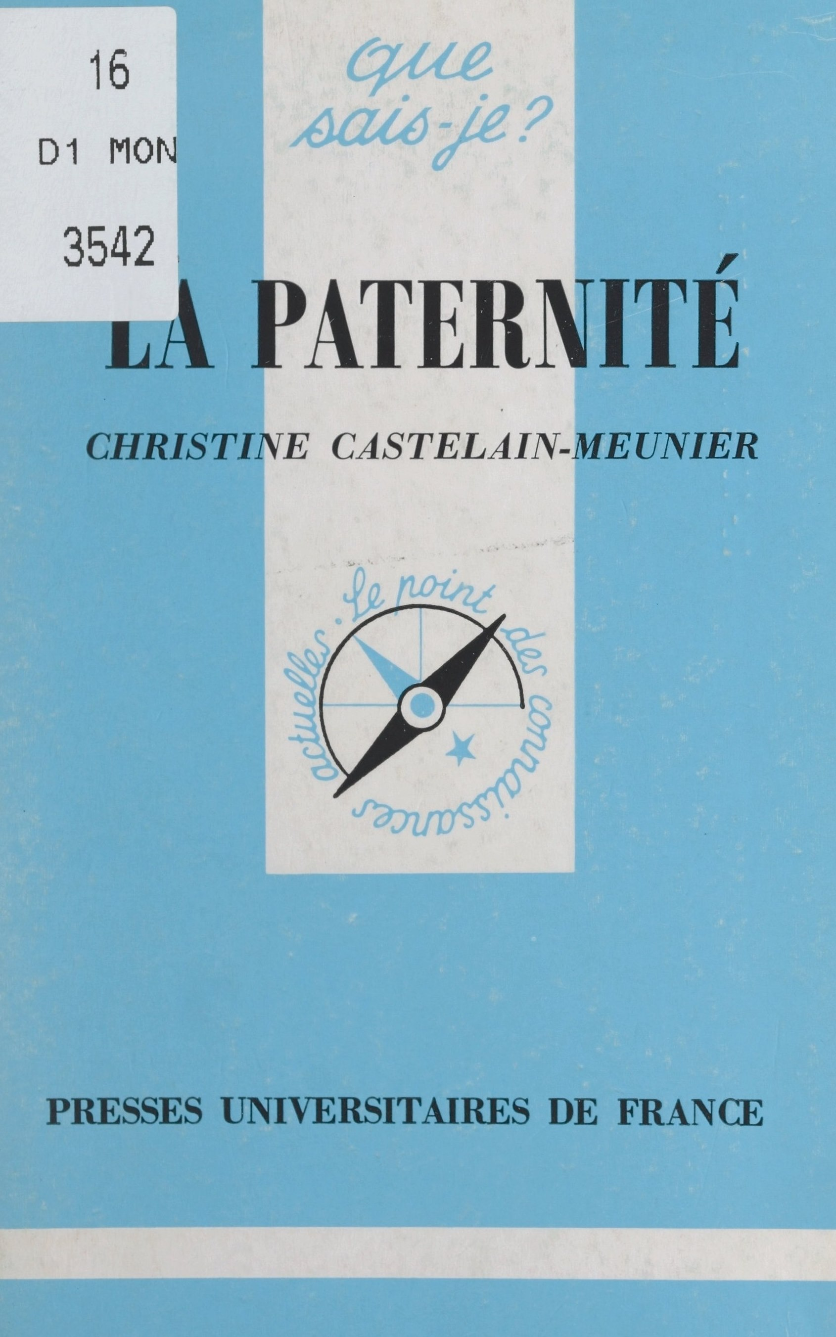 Vignette du livre La paternité