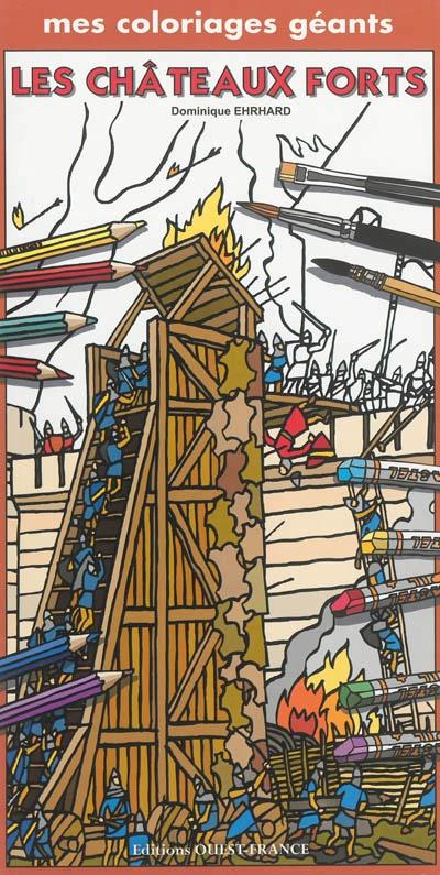 Coloriage Geant Chevalier.Mes Coloriages Geants Les Chateaux Forts Et Les Chevaliers Par