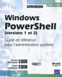 Vignette du livre Windows PowerShell (versions 1 et 2) (nouvelle édition)