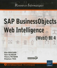 Vignette du livre SAP BusinessObjects Web Intelligence: Webl Bl 4