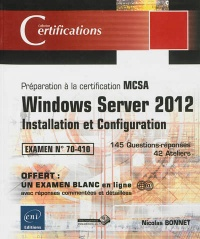Vignette du livre Windows Server 2012: installation et configuration