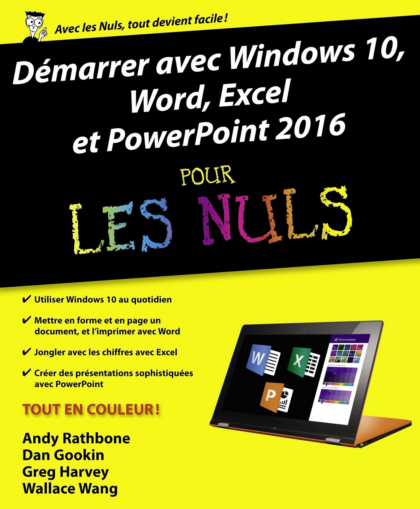 Vignette du livre Démarrer avec Windows 10, Word, Excel et PowerPoint 2016 pour... - Andy Rathbone, Dan Gookin, Greg Harvey, Doug Lowe, Wallace Wang