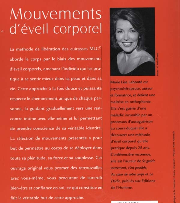 Mouvements d'éveil corporel (DVD inclus) - Marie Lise Labonte revers