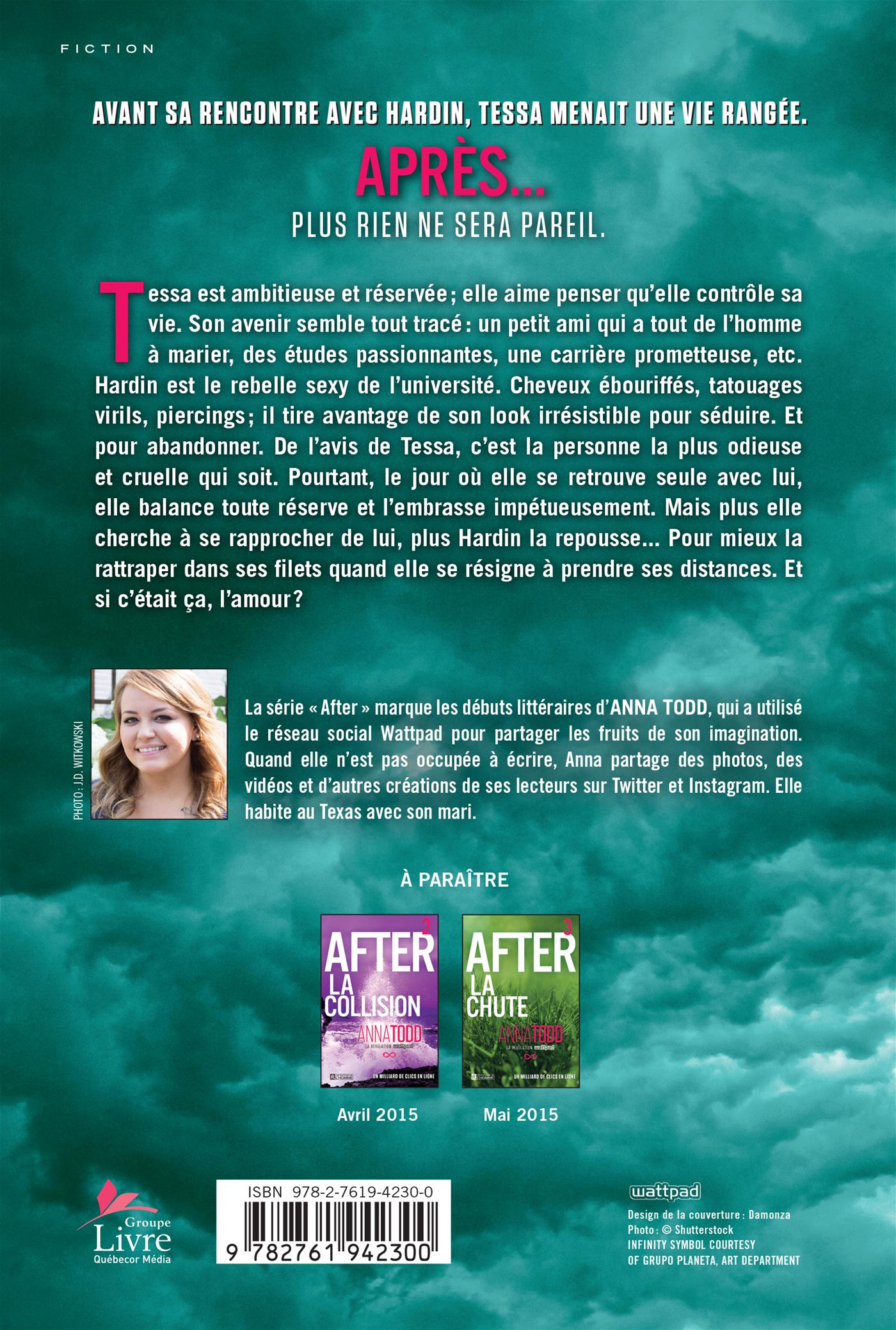 After T.1 : La rencontre - Anna Todd revers