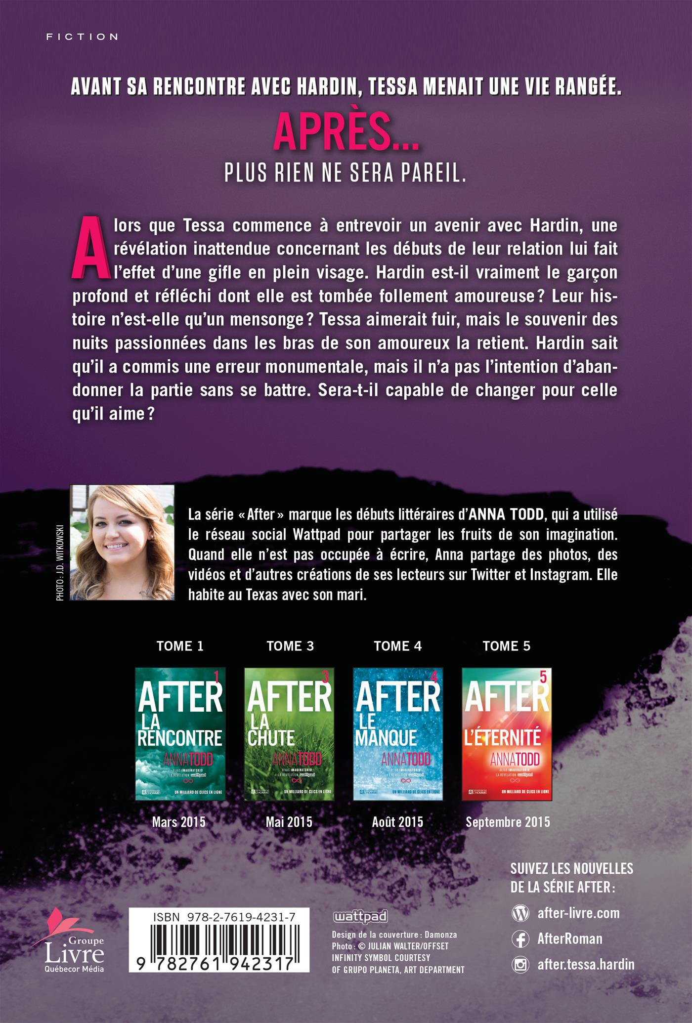 After T.2 : La collision - Anna Todd revers