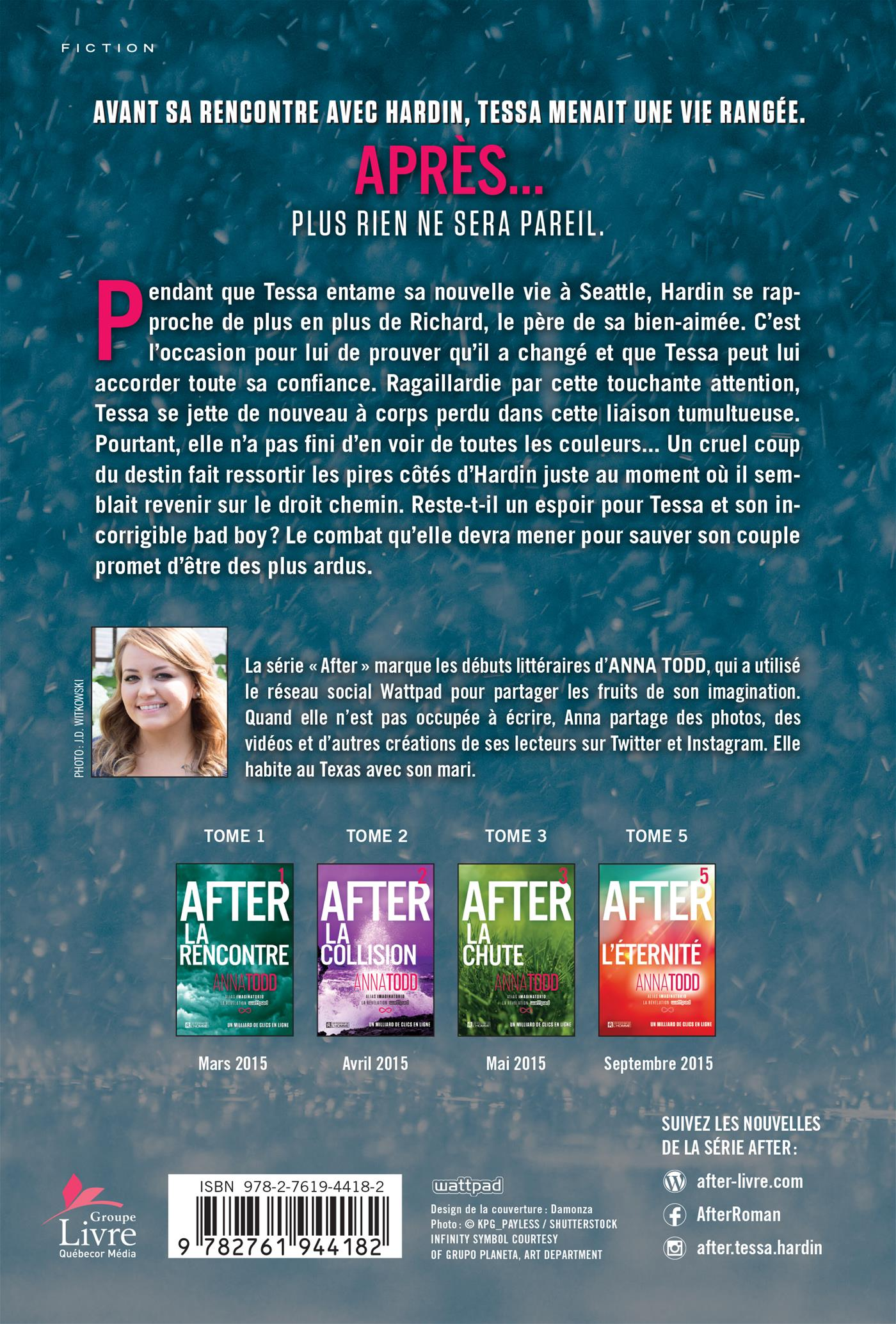After T.4 : Le manque - Anna Todd revers
