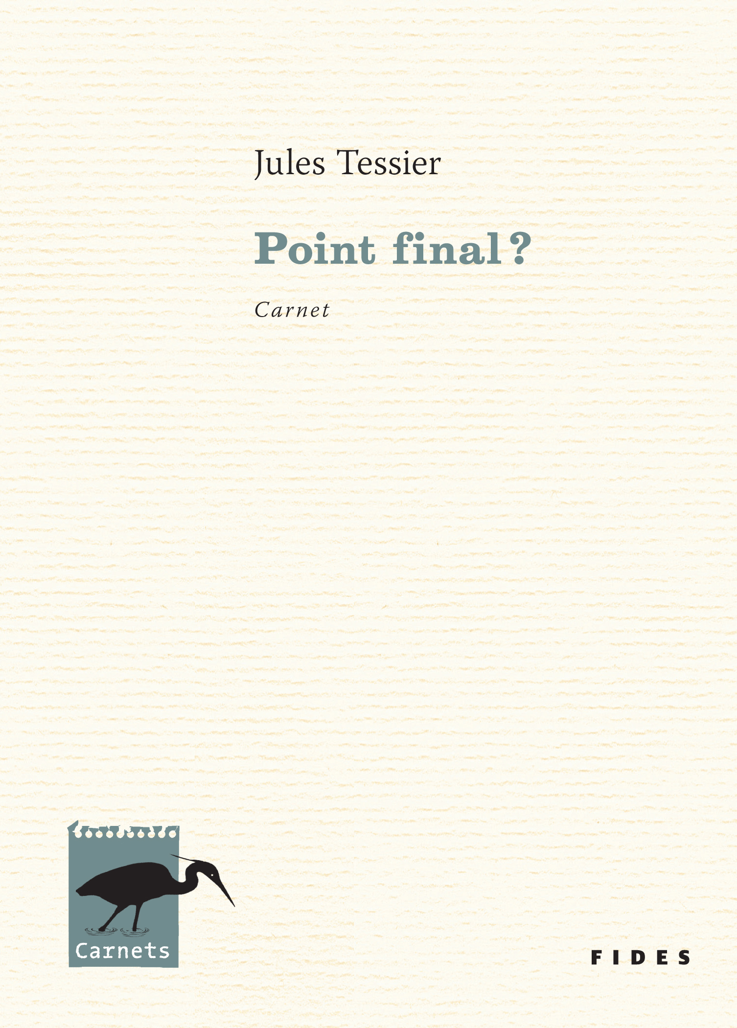 Vignette du livre Point final ?: carnet