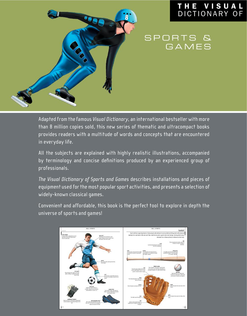 The Visual Dictionary of Sports & Games, Jean-Claude Corbeil revers