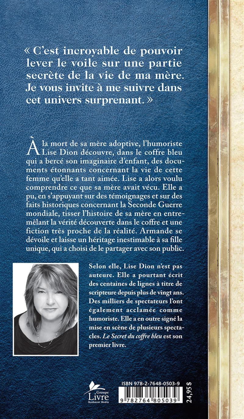 Le secret du coffre bleu - Lise Dion revers
