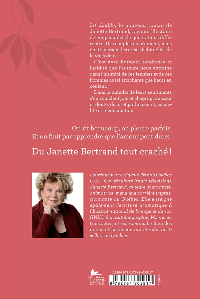 Lit double T.1 - Janette Bertrand revers