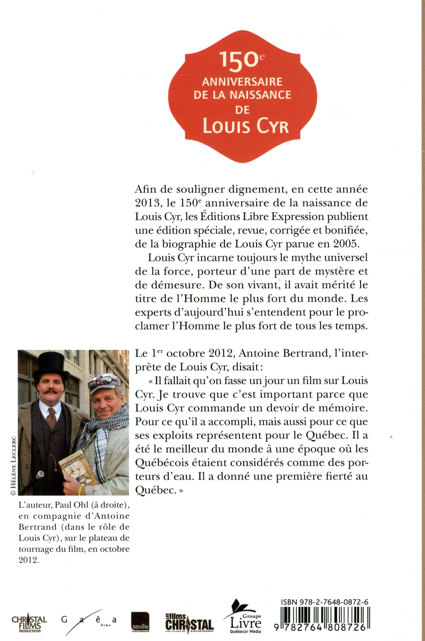 Louis Cyr - Paul e. Ohl revers