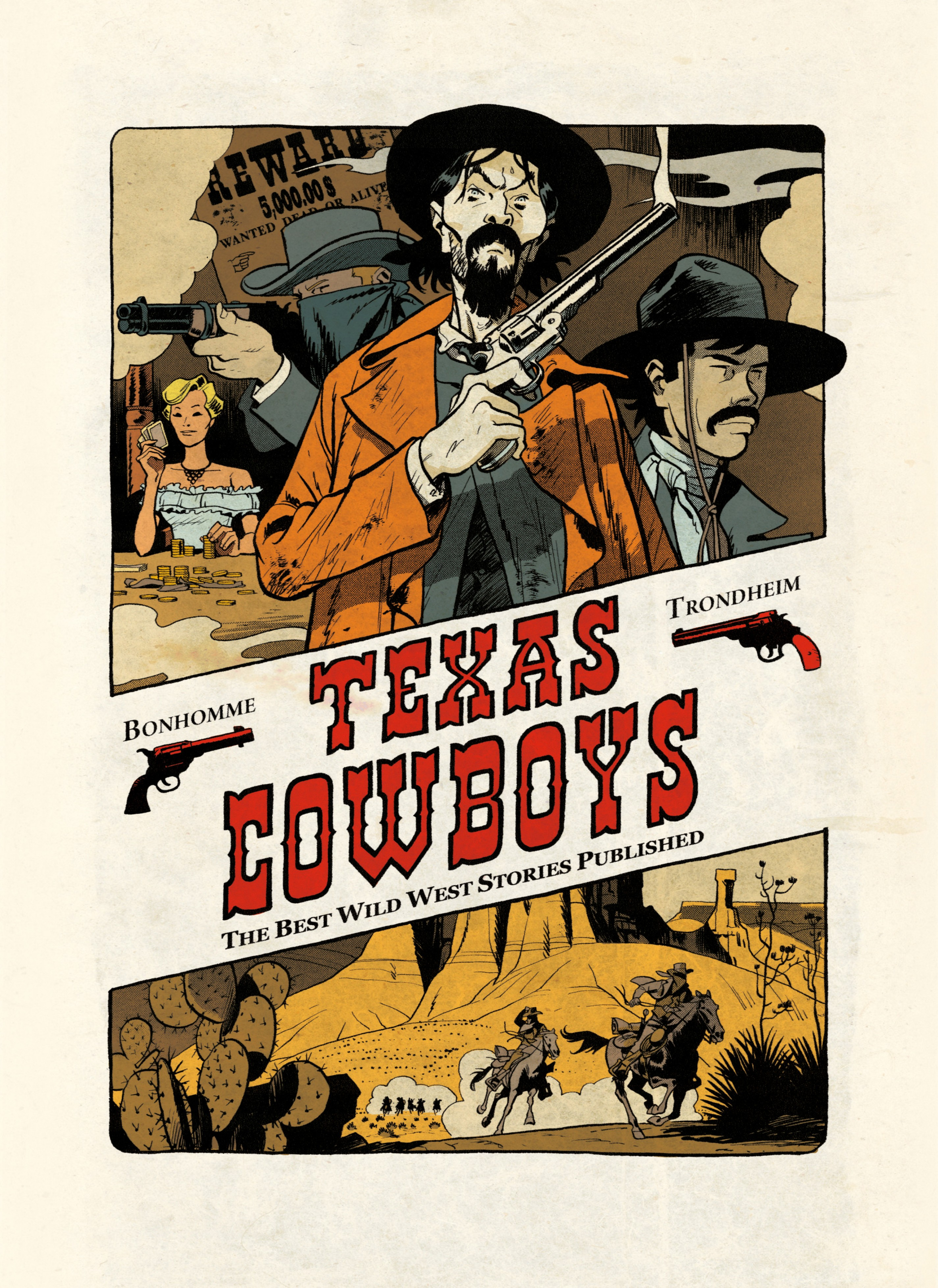 Vignette du livre Texas cowboys: The best wild west stories published - MATTHIEU BONHOMME, Lewis Trondheim