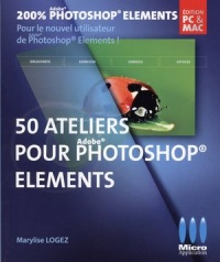 Vignette du livre 50 ateliers pour Photoshop Elements