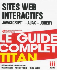 Vignette du livre Sites Web interactifs: Javascript, Ajax, Jquery,