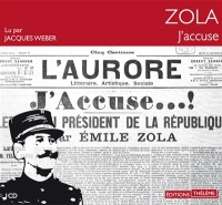 Vignette du livre J'accuse ! 1 CD mp3 - Émile Zola
