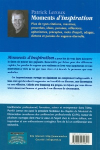 Vignette du livre Moments d'Inspiration