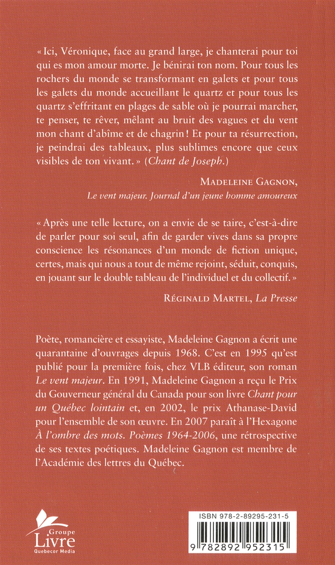 Vent Majeur (Le) - Madeleine Gagnon revers