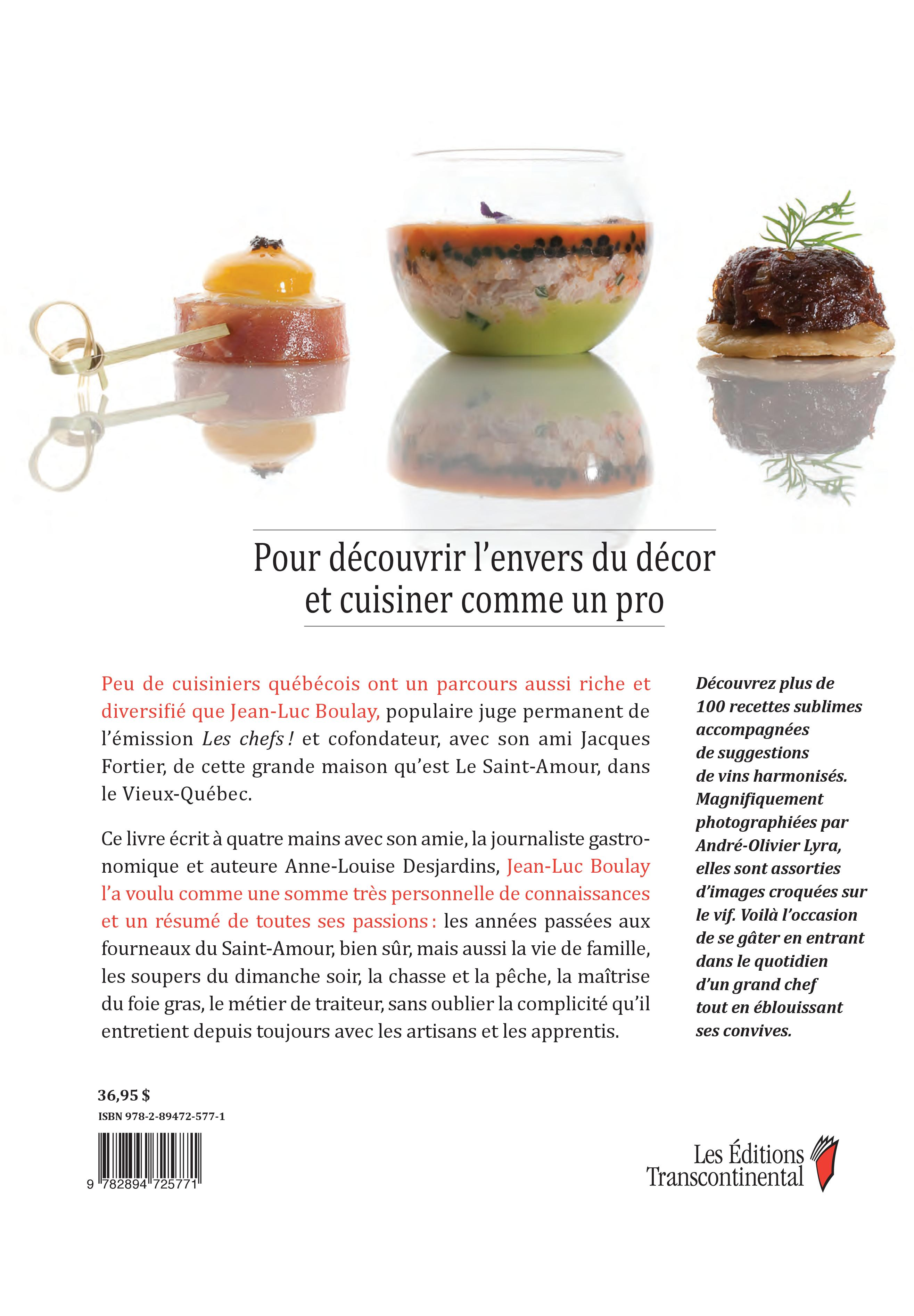L'univers gourmand de Jean-Luc Boulay - Jean-Luc Boulay revers