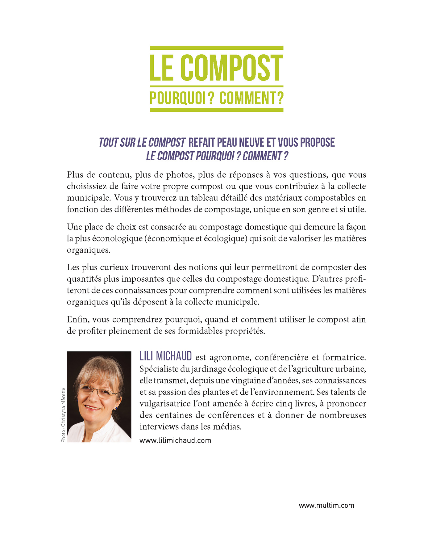 Le compost : Pourquoi? Comment? - Lili Michaud revers