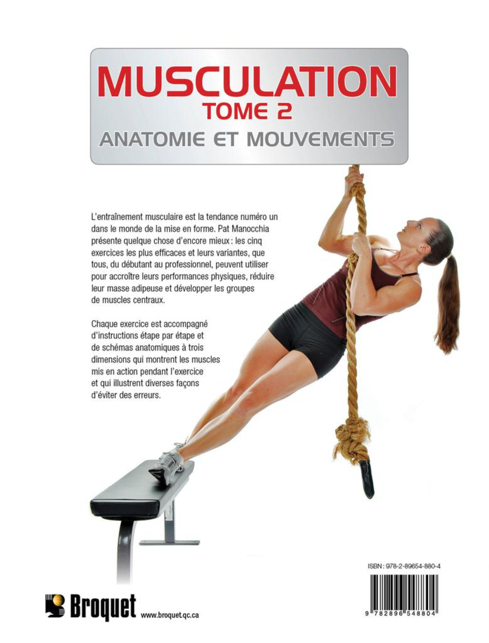 Musculation T.2: Anatomie et mouvements - Pat Manocchia revers