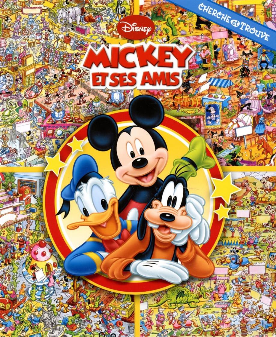 Mickey et ses amis cherche et trouve jeunesse jeux - Amis de mickey ...