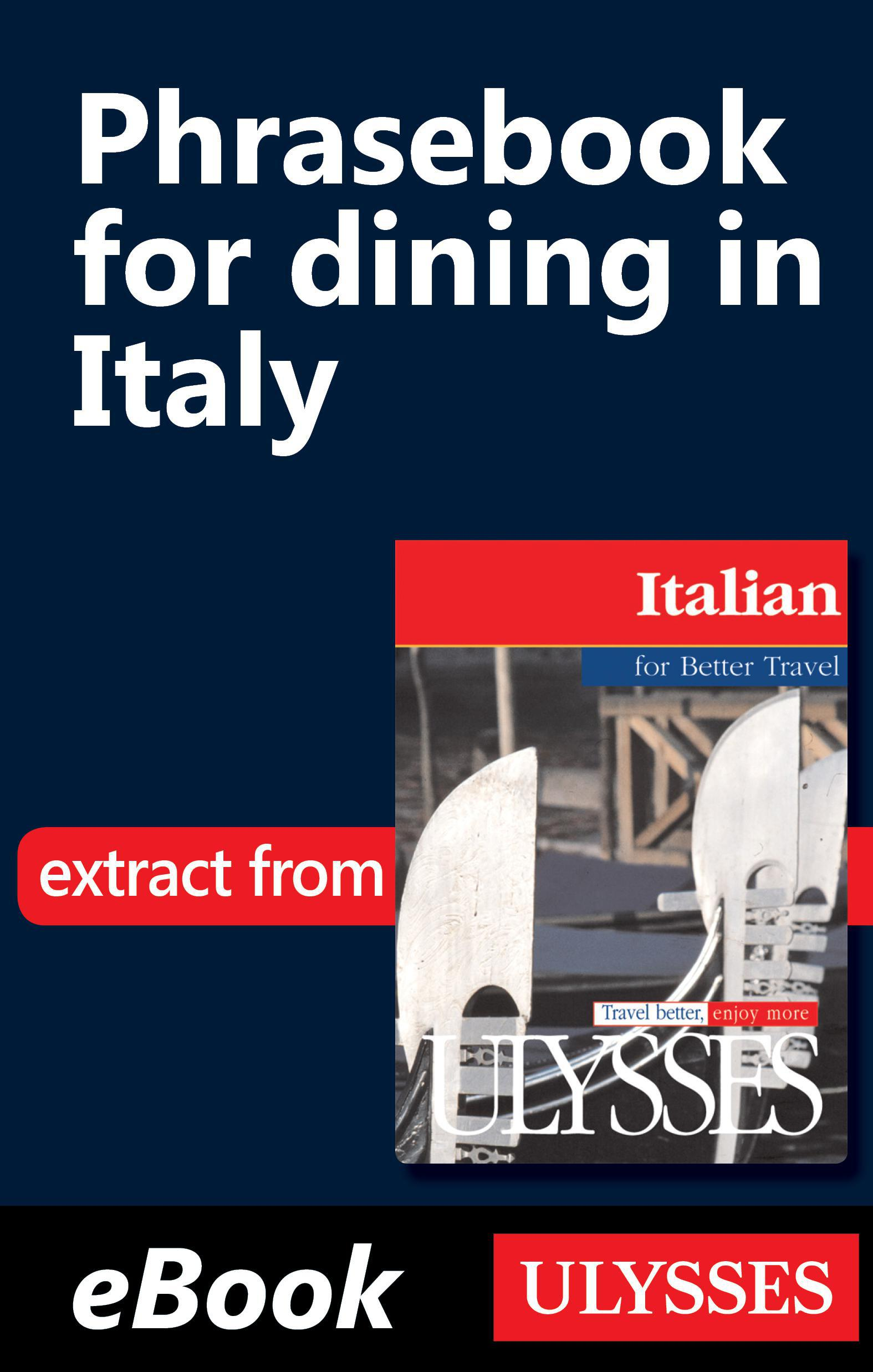 Vignette du livre Phrasebook for dining in Italy