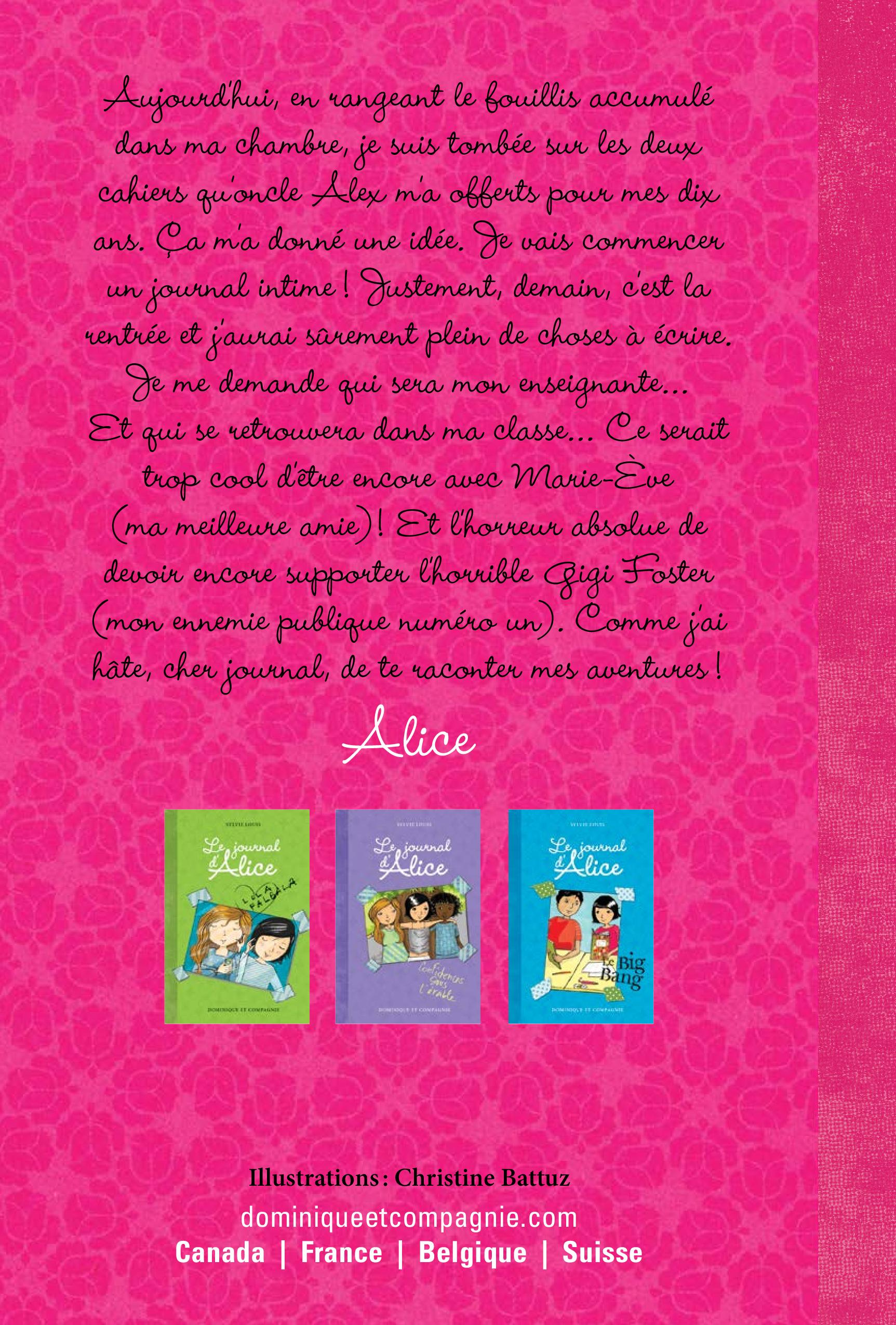 Le journal d'Alice T.1 - Sylvie Louis revers