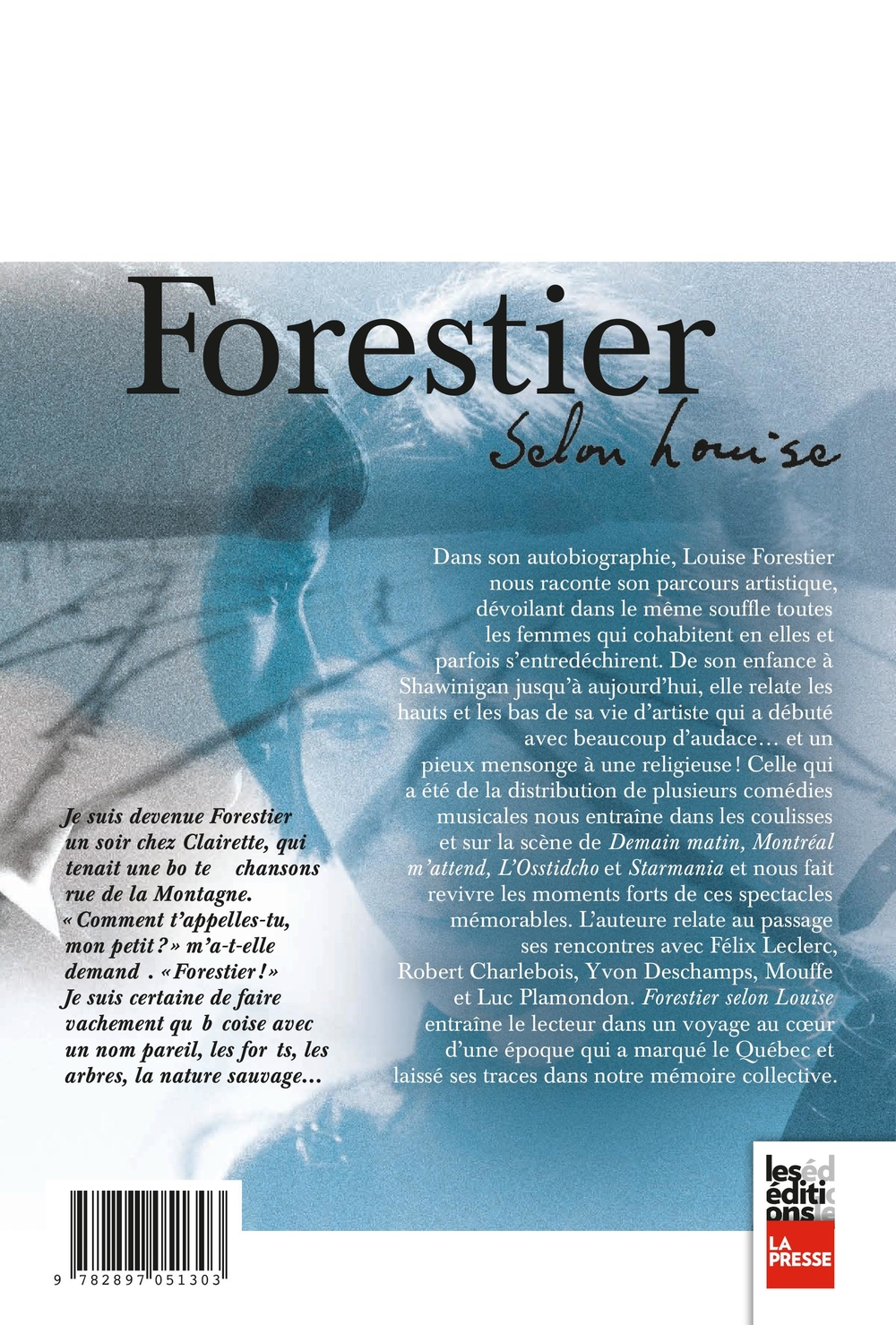 Forestier selon Louise - Louise Forestier revers