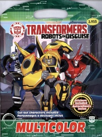 Vignette du livre Transformers robots in disguise : livre à colorier souple