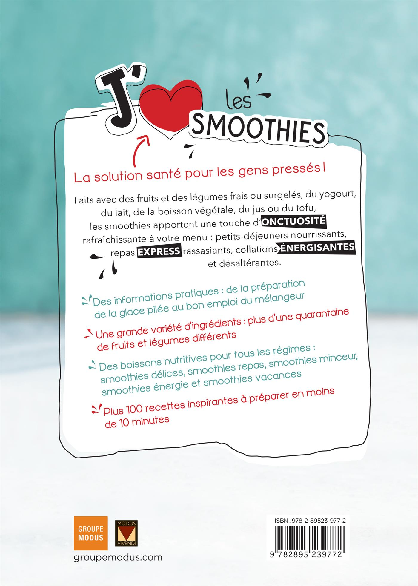 J'aime les smoothies - Louise Rivard revers