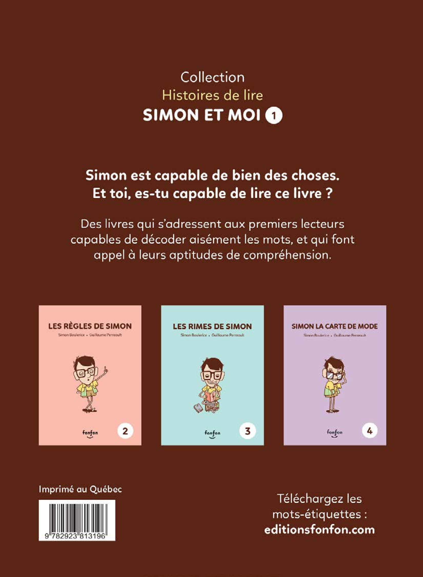 Simon et moi T.1 : Simon est capable, Guillaume Perreault revers