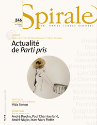 Spirale. No. 246, Automne 2013, Gilbert David