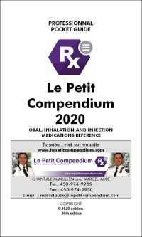 Vignette du livre Le Petit Compendium 2020: oral, inhalation and injection