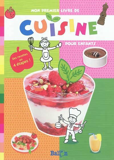 mon premier livre de cuisine pour enfants jeunesse cuisine