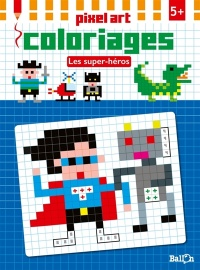 Pixel art coloriages: les super-héros